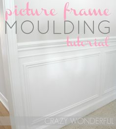 Crazy Wonderful: picture frame moulding - tutorial