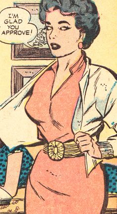 "Comic Girls Say.. "" I'm glad you approve ! ""  #comic #vintage #popart"