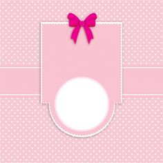 Card Invitation Polka Dots Pink