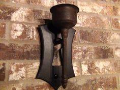 Primitive-Farmhouse-Metal-Wood-Key-Hole-Candle-Sconce