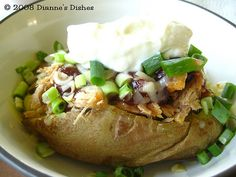 Loaded BBQ Baked Potatoes