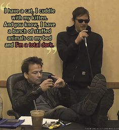 Sean Patrick Flannery is probably thinking how he can one-up Reedus. That's just how they work and that is adorable!