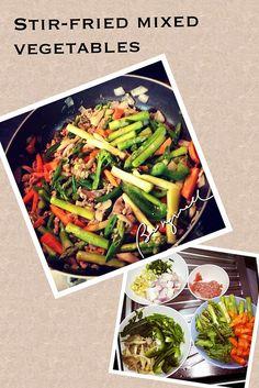 Cooking stir-fried vegetables by beingwell20, via Flickr