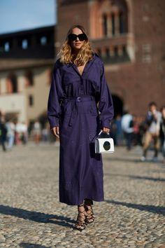 On the street at Milan Fashion Week. Photo: Imaxtree