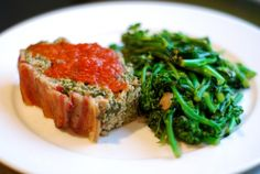 Super Porktastic Bacon-topped Spinach and Mushroom Meatloaf #paleo