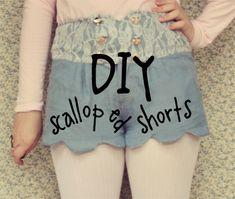 The Pineneedle Collective: DIY Scalloped Denim Shorts http://www.pineneedlecollective.com/2012/04/diy-scalloped-denim-shorts.html