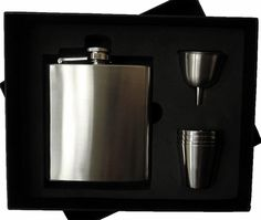 Flask Case With Metal Shot Glass & Funnel (No Flask)