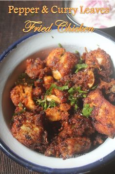 Pepper & Curry Leaves Fried Chicken Recipe - Chicken Fry Recipe