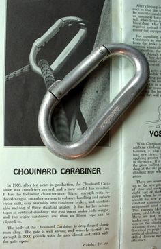 Image from a Supertopo thread: Chouinard Carabiner Timeline & Identification Guide- 1968-89 #climbing