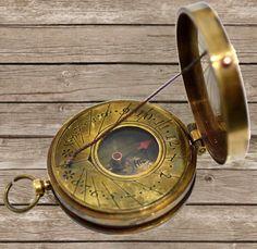 Coleccionable latón Brújula De Latón Antiguo Vintage Brújula Marítima De Regalo