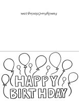 free printable cards to color for your kids to send the next upcoming holiday or occasion 4 images of printable coloring birthday
