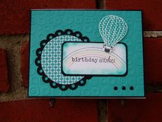 Hot Air Balloon Birthday Wishes by ladybugg61 - Cards and Paper Crafts at Splitcoaststampers