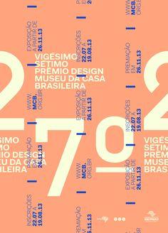 Cartaz vencedor do 27º Prêmio de Design Museu da Casa Brasileira.