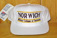 a758ae5f1be NORWICH University Cadets Military College of Vermont Vintage 90s Snapback  Hat Original Sports Cap by The Game Split Bar Official NCAA NWT