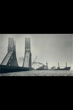Sunshine Skyway bridge just after its tragic collapse in 1980.
