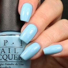 #OPI I Believe in Manicures by @lelacqueredlady #blue #babyblue #bluenails #ibelieveinmanicures