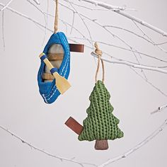 Adorable Knit Camping Ornaments | the Land of Nod