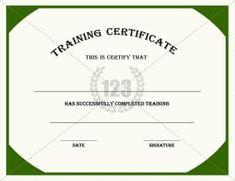 Training Certificate Template | Certificate Templates ...