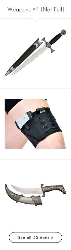 """""""Weapons #1 [Not Full]"""" by frizzleliz ❤ liked on Polyvore featuring intimates, weapons, accessories, grey, women's clothing, garter belt, garter slip, suspender belt, suspender garter belt and filler"""