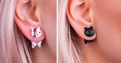 Cat Earrings: How I Turned My Hobby Into Business   Bored Panda