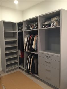 Grey Painted Closet Built Inu0027s With Slanted Shoe Rack And Hafele Rails.  Cabinets By
