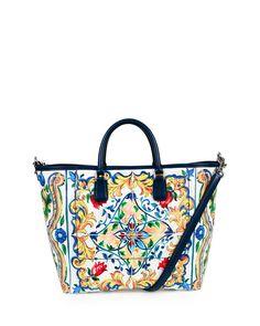 24ad01b8818d St. Maioliche Tile Shopper Tote Bag