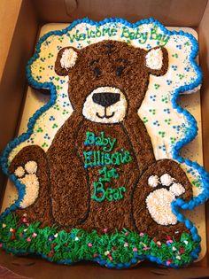 Teddy Bear Cupcake cake - baby shower