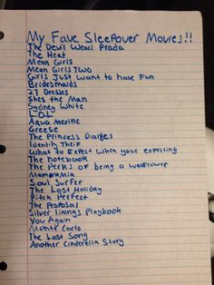 These are my favorite sleepover movies! --have some good ones:)