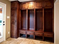House Plans with Mudroom : Maximize All Your Home Space : House Plans With Mudroom And Glass Door Mudroom Cabinets, Mudroom Laundry Room, House Ideas, My Dream Home, Home Projects, Home Remodeling, House Plans, New Homes, House Design