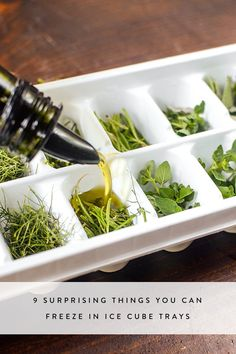 9 Surprising Things You Can Freeze in Ice Cube Trays via @PureWow