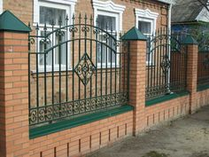 Fence Wall Design, Fence Design, Building Stairs, Aluminum Fence, Door Gate, The Great Outdoors, Fence Ideas, Fencing, Deco