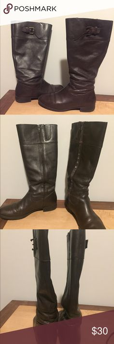 Ralph Lauren Tall Brown Leather Boots. Great condition Ralph Lauren fall/winter boots! I bought these on Poshmark and I'm just asking what I paid. They do not fit because my calves are too large...😆 let me say that I do have abnormally large calves and these are normal sized, calve- length boots! No blemishes or wear marks. Come in original box. Ralph Lauren Shoes Winter & Rain Boots