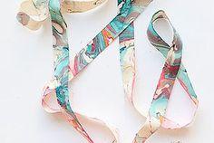DIY Marbleized Ribbon
