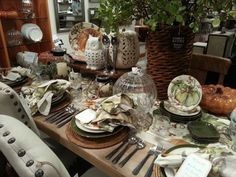 Pottery Barn Fall Autumn Tablescape via Between Naps on the Porch