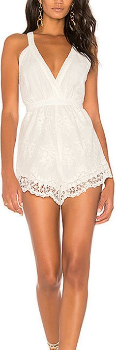 MINKPINK Resort Playsuit in White. Romper, womens fashion, cute outfits, cute outfit, spring outfits, spring outfit, summer outfit, summer outfits, fashion         #womensfashion #ad #cuteoutfits #springoutfits #summeroutfits
