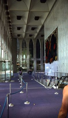 The lobby of the World Trade Center in the 1970s.