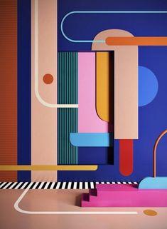 nice Wandfarben Ideen wie ein gemälde
