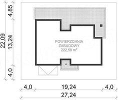 kuchnia13,44 Floor Plans, House Design, Home Architecture, Detached House, Architecture Design, House Plans, Home Design, Floor Plan Drawing, House Floor Plans