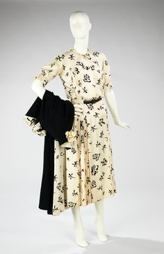 Coco Chanel. 1956. Cristobal Balenciaga. 1958. The Costume Institute. Brooklyn Museum Costume Collection. Metropolitan Museum of Art.