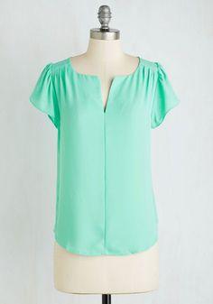 Make Friends Meet Top | Mod Retro Vintage Short Sleeve Shirts | ModCloth.com
