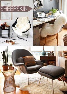 Cozy sheepskin rugs.  furrugs.com