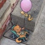 David Zinn's Quirky Chalk and Charcoal Characters on the Streets of Ann Arbor