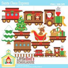 Clip Art - Santa Claus Express - holiday-themed clipart $