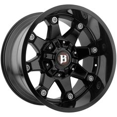 581 BEAST Gloss Black Wheels by BALLISTIC®. x Offset, Bolt Pattern, Hub. These rugged and good-looking off-road capable one-piece custom aluminum wheels will make your truck look great on the street or off the road. Jeep Wheels, Off Road Wheels, Wheels And Tires, 5th Wheels, 24 Rims, 20 Inch Rims, Black Wheels, Black Rims, 20 Inch Light Bar