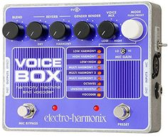 "The Electro-Harmonix Voice Box is a powerful harmonic processor and vocoder that can simply offer you 2 or backup harmonies or go ""O Superman"" Guitar Effects Pedals, Guitar Pedals, O Superman, Digital Piano Keyboard, Used Guitars, Phantom, The Beach Boys, Gender Bender, Musical Instruments"
