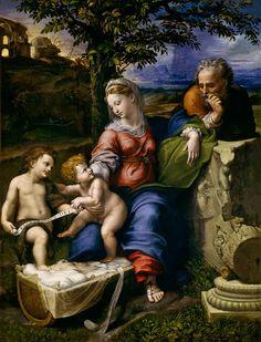 (Raphael) Raffaello Santi - The Holy Family of the Oak Tree (Ra-1)