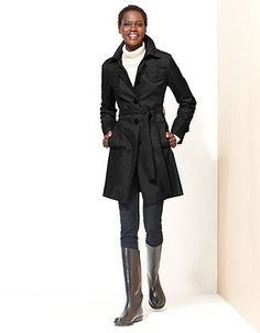 DKNY Coat, Quilted Trench Raincoat - Coats - Women - Macy's