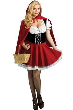 Sultry Red Riding Hood Plus Size Costume for Halloween - Pure Costumes