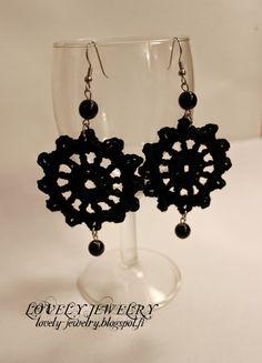 Lovely Jewelry: Virkattuja korvakoruja