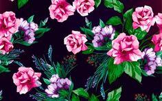 Картинка Rose, floral, pattern, розы, принт, текстура, фон, цветы